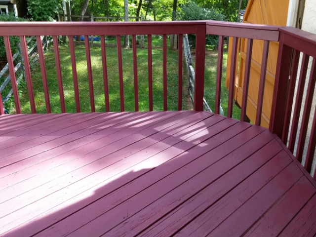 Painted maroon deck