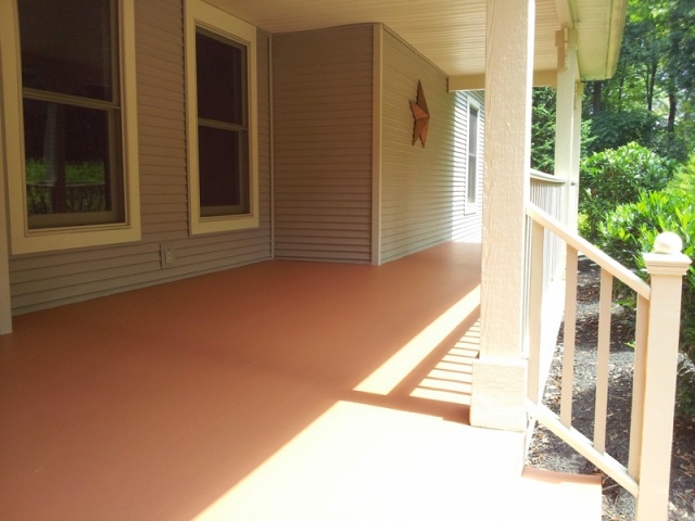 Wood stained deck