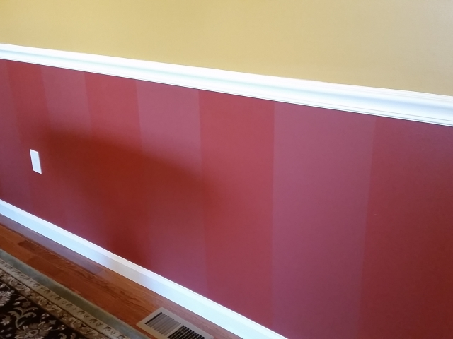Dining room wall repainting