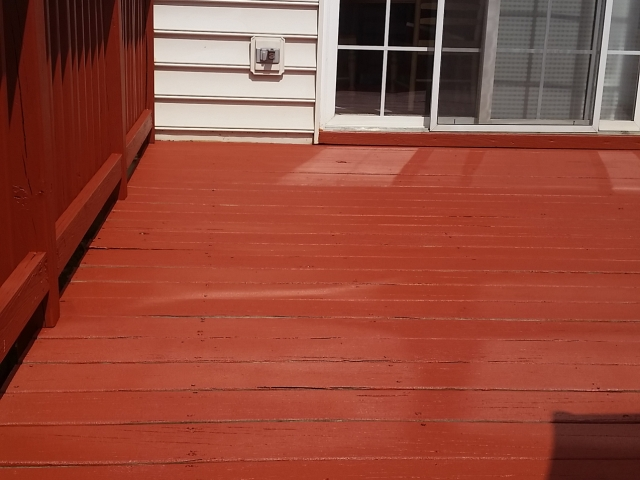 Painted red deck